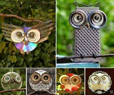 Recycled Owl Art
