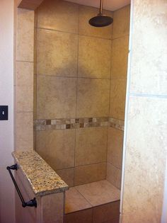 Great Idea for 2nd bathroom( Joe's Bathroom) Turn his bathtub/shower into a shower and use the extra space for storage.