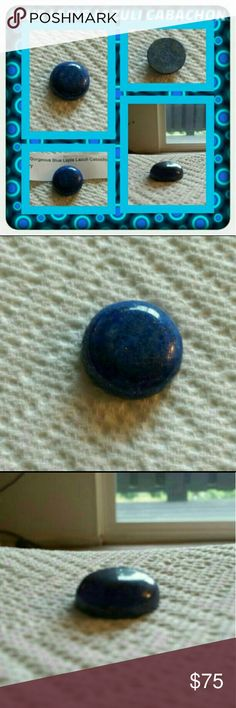 ❤ Blue Lapis Cabachon ❤ This Is A Custom Made Blue Lapis Cabochon Great For Any Collector Very Unique & Beautiful Made For Me By A Lapidary No Two Pieces Are Alike Simply Beautiful 🚫 PAYPAL 🚫 TRADES 🚫 LOWBALLING ONLY REASONABLE OFFERS CONSIDERED ❤ Jewelry Brooches