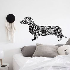 Zentangle Dachshund Clip Art Cut file Dog Lover gift Silhouette Digital Printable Art Clipart by ValRA