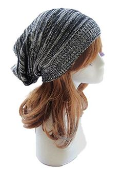 Sandistore hot sale Unisex Knit Baggy Beanie Beret Winter Warm Oversized  Ski Cap Hat Wonderful gift for a you or your friends new and high quality. 255a10f86da