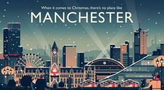 Visit Manchester Christmas Campaign by Owen Davey #city #illustration