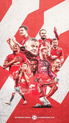 Manchester United Champions, Manchester United Legends, Manchester United Players, Manchester United Wallpapers Iphone, Cristiano Ronaldo Manchester, International Champions Cup, Team Wallpaper, Sports Graphic Design, Football Design