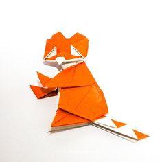 Red Panda! #origami #origamis #origamist #origamiart #artedeorigami #摺紙藝術 #origamikunst #faltpapier #origamipapers #papierkunst… Origami Animals, Red Panda, Origami Art, Flag, Paper, Red Pandas, Science, Flags