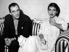 Maria Callas with Luchino Visconti in Rome, 1958.