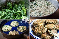 Kuchařka ze Svatojánu: ŠPENÁTOVÉ LÍVANEČKY Vegan Recipes, Vegan Food, Fried Rice, Fries, Meat, Chicken, Vegetables, Ethnic Recipes, Veggie Food
