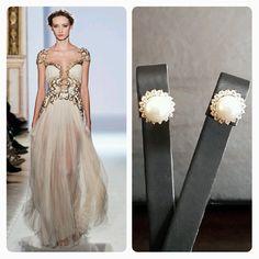 Zuhair Murad Wedding Dress & BrideIstanbul Earrings