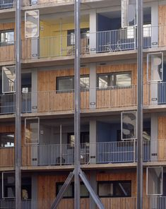 Soft inner - through projecting balconies