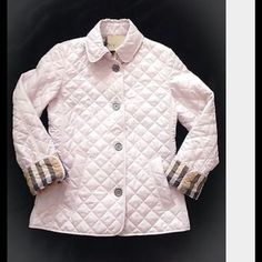 WHITE BURBERRY BRIT COPFORD QUILTED JACKET Worn once. Still have tags & extra buttons. Brand new condition. No Trades... Burberry Jackets & Coats