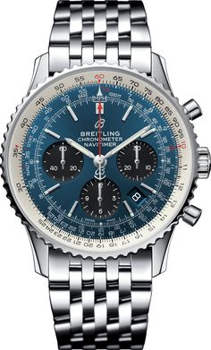 Breitling Watch Navitimer 1 B01 Chronograph 43 #add-content #basel-18 #bezel-bidirectional #bracelet-strap-steel #brand-breitling #case-depth-14-22mm #case-material-steel #case-width-43mm #chronograph-yes #cosc-yes #cws-upload #date-yes #delivery-timescale-call-us #dial-colour-blue #gender-mens #luxury #movement-automatic #official-stockist-for-breitling-watches #packaging-breitling-watch-packaging #style-dress #subcat-navitimer #supplier-model-no-ab0121211c1a1