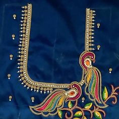 Peacock Blouse Designs, Peacock Embroidery Designs, Cutwork Blouse Designs, Best Blouse Designs, Wedding Saree Blouse Designs, Saree Blouse Neck Designs, Simple Blouse Designs, Stylish Blouse Design, Dress Neck Designs