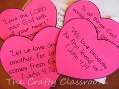 Bible verses for Valentines!  AN even better way for Makayla to show her love for family and friends!