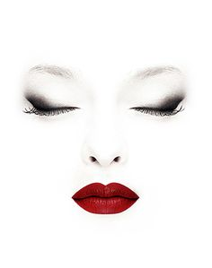 Brown smokey eye + red lips!    Eyes:  Liner: Teddy - MAC    Lips:  Red Russian - MAC