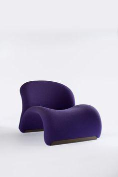 "Poltrona ""574"" 1967 (65x74x88 metallo tubolare tessuto stretch) Pierre Paulin…"