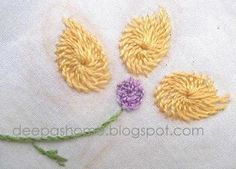 Chemanthy Work-An Indian embroidery method tutorial