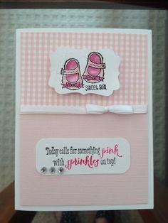 Stampin up baby girl card