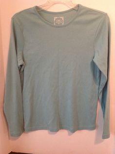 Womens Cato Medium Long Sleeved Green Mint Shirt Layer