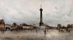 La Place de la Bastille par Frank Boggs.