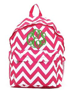 Pewter Gray Chevron Personalized Backpack - Grey Monogrammed Girls ...