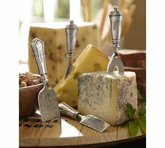 Antique-Silver Cheese Knives, Set of 4 #potterybarn ... just purchased, love this look!!!