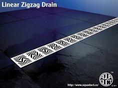 Zig Zag linear drain by Aquaduct  www.aquaduct.co