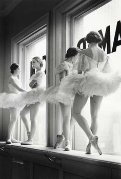 ballerinas by the window