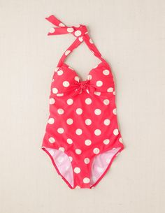 2c81b0ae91 Disney Minnie Mouse - Retro Halter Swimsuit in polka dot pink Modest  Swimsuits