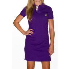 Women's Polo Dress LSU (Purple) by Pennington & Bailes