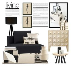 """""""Interior whislist 34: Black and Beige"""" by anna-anica ❤ liked on Polyvore featuring interior, interiors, interior design, home, home decor, interior decorating, Adesso, CB2, Woodnotes and Judy Ross"""