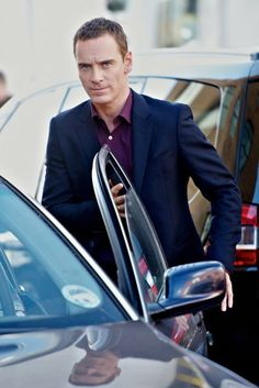 Michael Fassbender on Ridley Scott's 'The Counselor' film set in East London. Sept. 2012