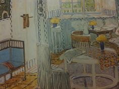 Alexander Golovin. Interior. Set Design for Act 1 of Ibsen's play Little Eyolf. 1907. From Russian Art Noveau: The World of Art and Diaghilev's Painters