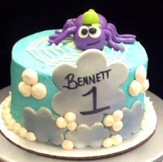 Itsy bitsy spider smash cake