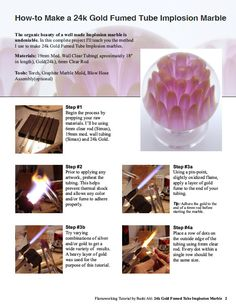 Flameworking Tutorial - 24k Gold Fumed Implosion Marble (eBook). $4.99, via Etsy.