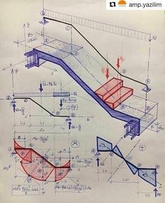 Páči sa mi to: komentáre: 76 – Civil Engineering ( - insaat - Architektur Civil Engineering Design, Civil Engineering Construction, Engineering Science, Escalier Art, Structural Analysis, Stair Detail, Concrete Stairs, Construction Drawings, Staircase Design