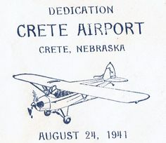 Aug 24 1941 Crete Nebraska Dedication of Airport Cover lot #C25flc-1 by…