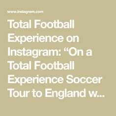 """Total Football Experience on Instagram: """"On a Total Football Experience Soccer Tour to England we can arrange for you to have a Manchester United Experience which includes a…"""" Manchester United, Soccer, England, The Unit, Tours, Football, Canning, Math, Instagram"""