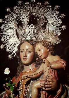 All about Mary.: Photo Nuestra Señora del Rosario The statue of Our Lady of the Rosary, the patroness of La Unión in Murcia, Spain. #spain   #rosary