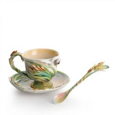180.00$  Watch here - http://vihnr.justgood.pw/vig/item.php?t=cn50ew19512 - Franz Collection Swan Lake Cup & Saucer with Spoon 180.00$