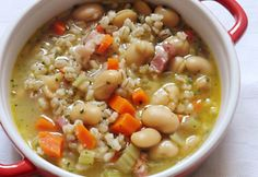 Cheeseburger Chowder, Soup, Bean Soup, White Beans, Italian Meals, Easy Meals, Food And Drinks, Soups