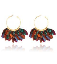 Les boucles d'oreilles plumes Bianca de Gas Bijoux