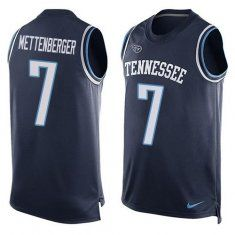 2016 Nike NFL Tennessee Titans 7 Zach Mettenberger Navy Blue Men Stitched Limited Tank Top Jersey