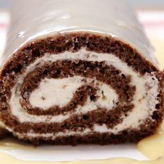 Rocambole de chocolate branco