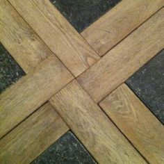 Flooring - tile and wood combination