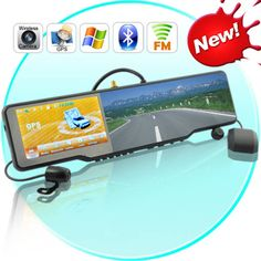 Rear-View Mirror with GPS, Bluetooth, Backup Camera,
