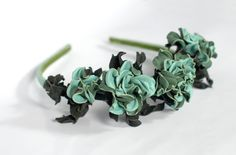 Hey, I found this really awesome Etsy listing at https://www.etsy.com/listing/251200141/leather-mint-rose-headband-flower-bridal
