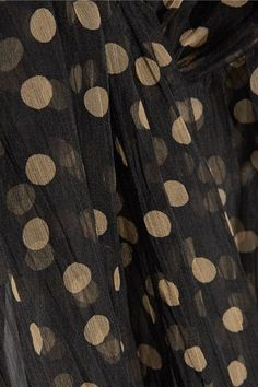 Petar Petrov - Leather-trimmed Polka-dot Silk-organza Maxi Dress - Black - FR42