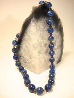 Eighteen inch Lapis Lazuli necklace with by TheCrystalApothecary, $155.00