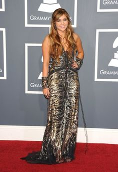 Miley Cyrus arrives at The 53rd Annual Grammy Awards held at Staples Center on February 13, 2011 in Los Angeles
