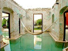 Imagen del Hotel Hacienda Puerta #Campeche. Rincón en donde se disfruta de las maravillas naturales como en ningún otro lugar de #Mexico.