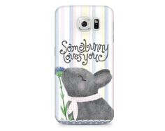 Bunny Phone Case Somebunny Loves You Phone Case by NoondaybyTracey